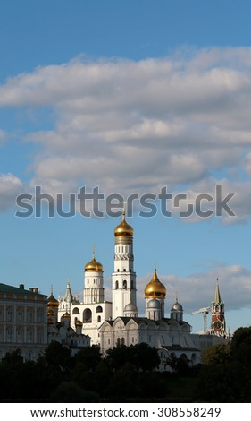 High bell tower of Ivan the Great in the Moscow Kremlin