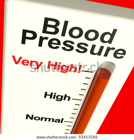 High Blood Pressure Showing Hypertension And Lots Of Stress - stock photo