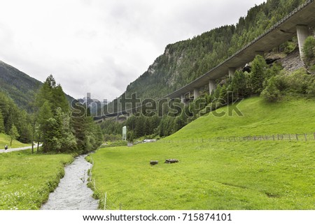 high bridge in the Austrian Alps
