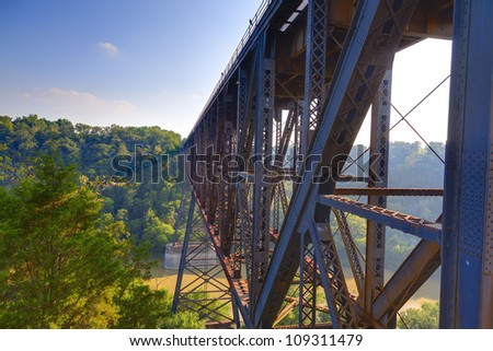 High Bridge railroad tressle in Kentucky - stock photo