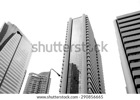 High building in capital city. - stock photo