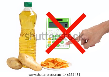 High calorie food say No - stock photo