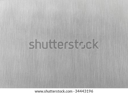 High contrast brushed stainless steel texture with horizontal lighting effects / light reflections. - stock photo