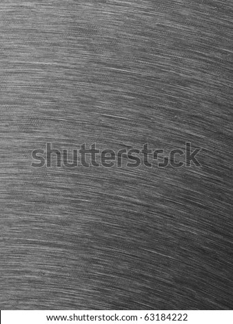 High contrast brushed stainless steel texture with vertical lighting effects / light reflections. - stock photo