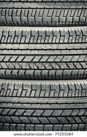 high contrast heavy duty vehicle tires closeup