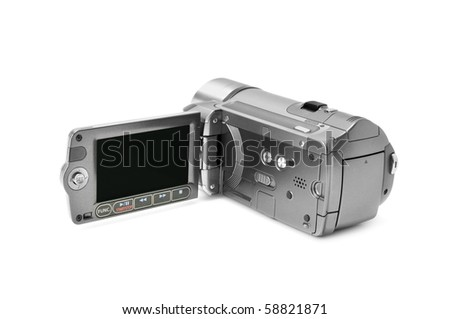 high-definition camera isolated on a white