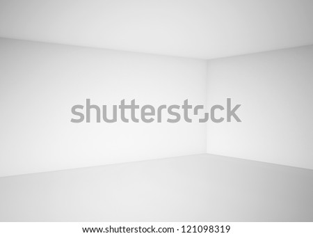 high definition empty white room - stock photo