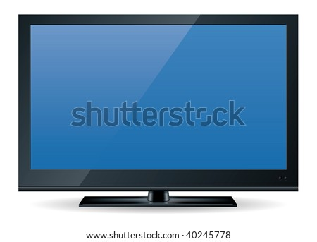 high definition (HD) television set in black