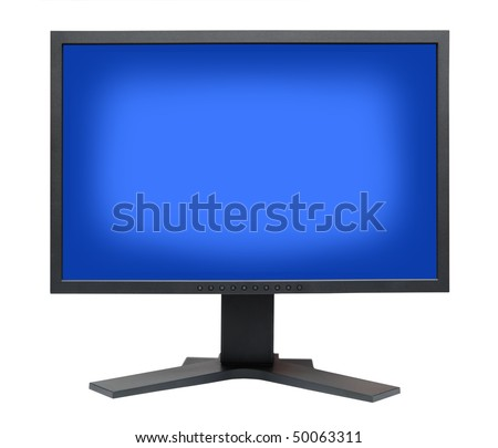 High Definition LCD computer monitor on a white background - stock photo