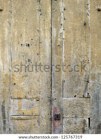 High definition photograph of a ancient worn wall in Italy - stock photo