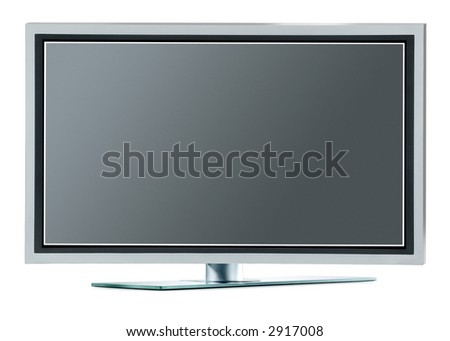 High definition plasma TV (with clipping paths) - stock photo