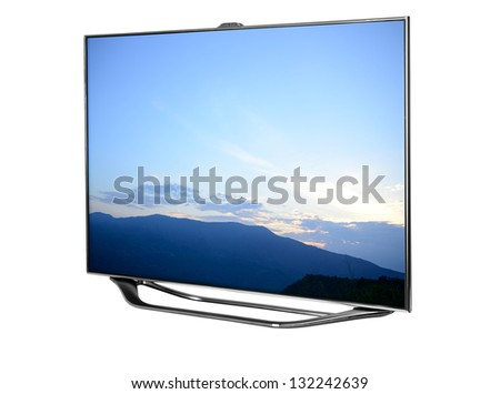 High definition TV. - stock photo