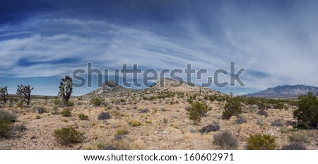 High Desert Panorama - stock photo