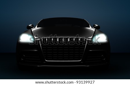 High detail computer render of a front of a car. - stock photo