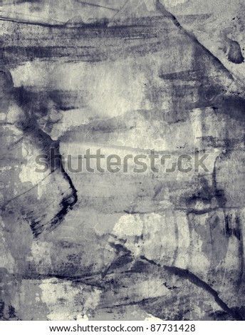 High detailed grunge abstract textured watercolor  collage. All brushes, elements and painting used are created by me and from my work - stock photo
