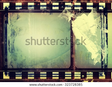 High detailed grunge film frame,border,background or texture with space for your text or image. - stock photo