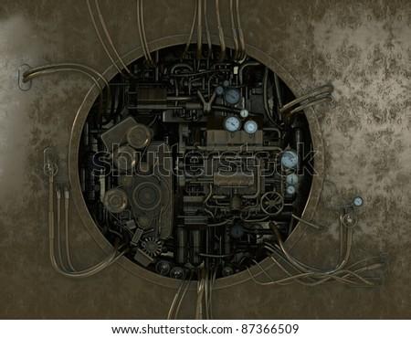 High detailed stylish machine gear - stock photo