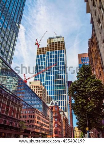 High dynamic range HDR City of Frankfurt am Main in Germany - stock photo