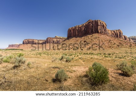 High Dynamic Range (HDR) Photo of a view of Canyonlands National Park - stock photo