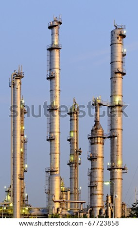 High Dynamic Range impression of a chemical installation - stock photo