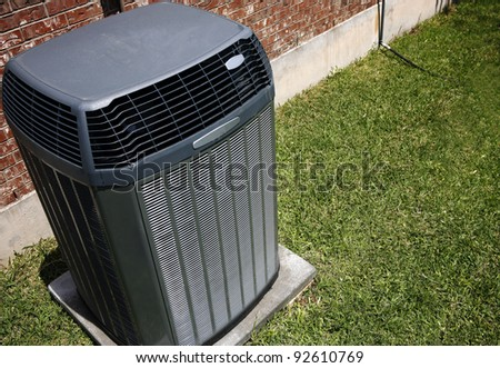 High efficiency modern AC-heater unit, energy save solution - stock photo