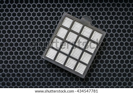 High efficiency particle and carbon air filters. - stock photo