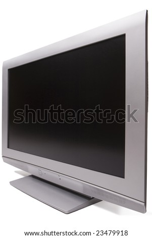 High end LCD tv - stock photo