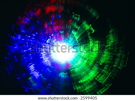 High energy colorful explosion - stock photo