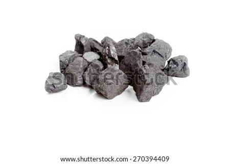 High-Energy Pea Coal. Coal for boilers with fuel charger. - stock photo