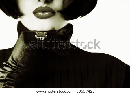 High fashion woman - stock photo