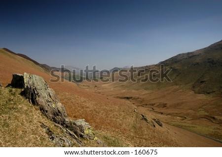 High fells English Lake District - stock photo