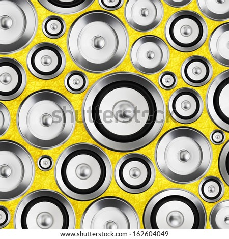 High fidelity audio stereo system sound speakers background - stock photo