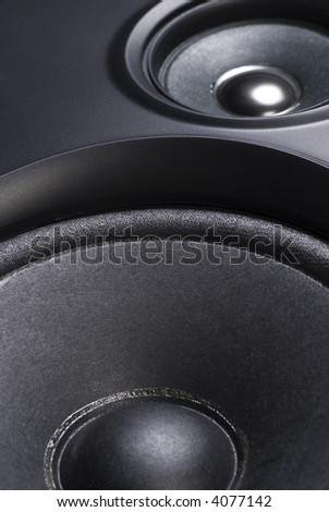 high fidelity speaker close up - stock photo