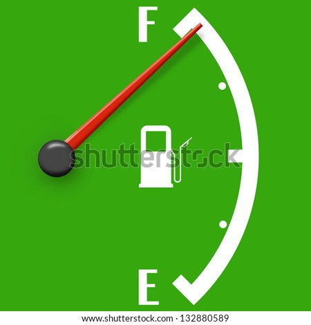 High fuel sign isolated on a green background - stock photo