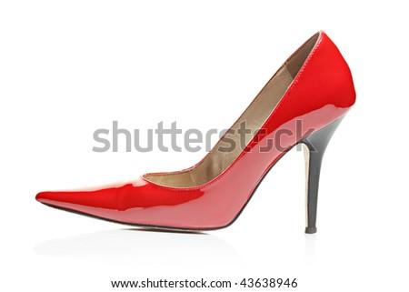 High heel isolated on white background - stock photo