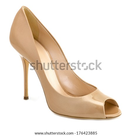 high heel on white background