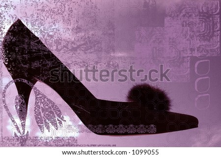 High heel shoe - stock photo