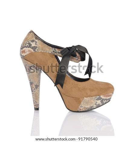 high heel women shoe - stock photo