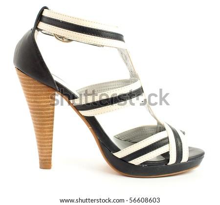 high heeled shoe isolated - stock photo
