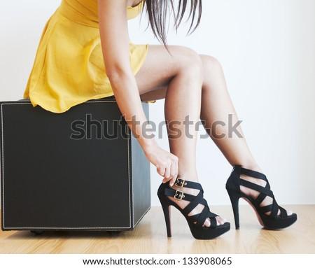 High heels. - stock photo