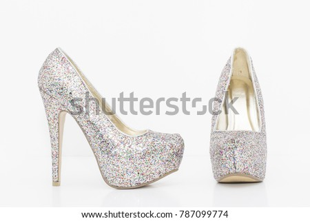 High heels isolated on white a background