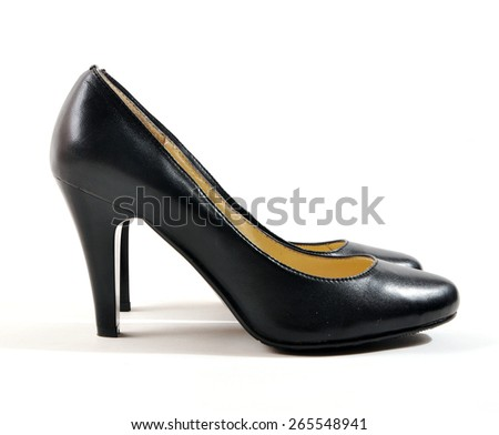 high heels on white background - stock photo