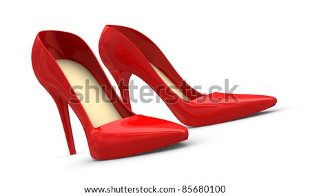 High heels shoes, concept of femininity and luxury (3d render)