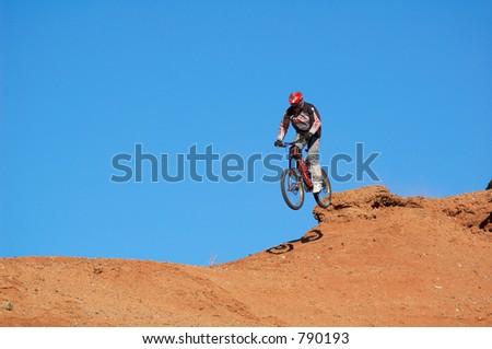 High jump - stock photo