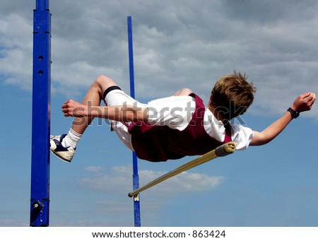 High Jumper - stock photo