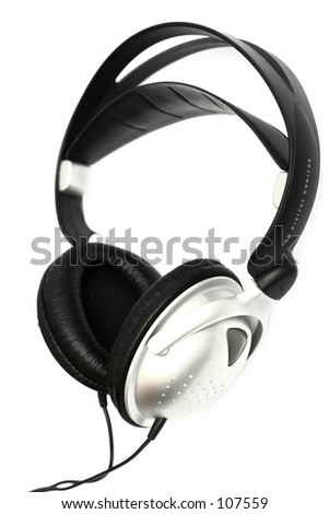 High key silver and black headphones