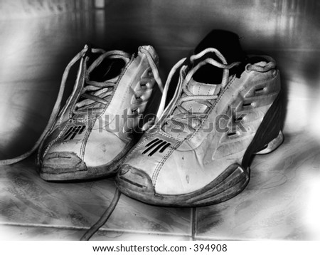 high-key sneakers - stock photo