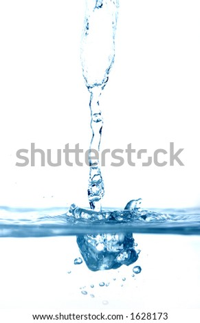 high key water drops falling - stock photo