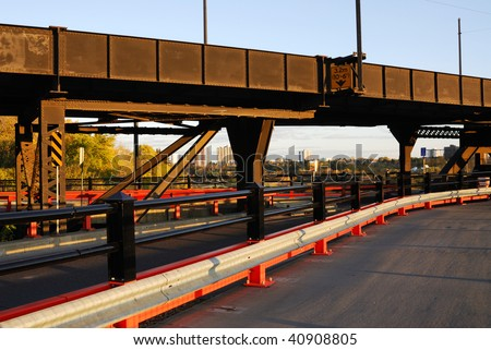 high level bridge in edmonton city, alberta, canada - stock photo