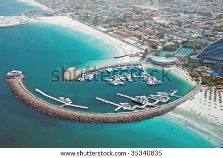 High Level View of Marina - stock photo